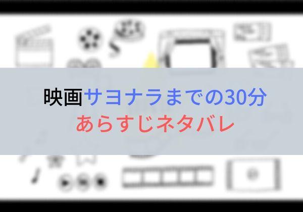 映画「サヨナラまでの30分」のキャストやあらすじネタバレ見所は?主題歌や予告動画も!