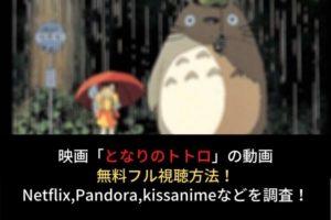 【となりのトトロ】フル動画を無料視聴する方法!Netflix,pandora,kissanimeでの配信は?