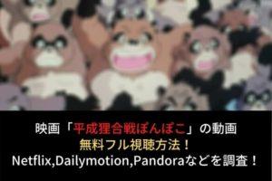 【平成狸合戦ぽんぽこ】フル動画を無料視聴する方法!Netflix,anitube,kissanimeでの配信は?