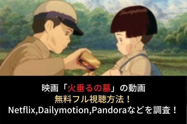 【火垂るの墓】フル動画を無料視聴する方法!Netflixで配信?Dailymotion,Pandoraも調査!