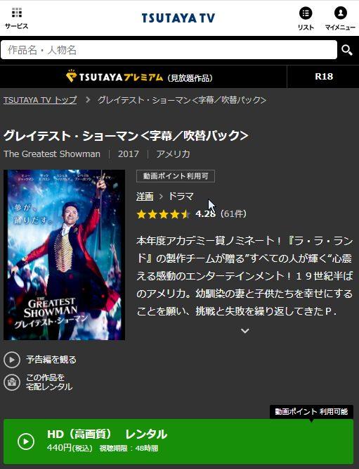 グレイテストショーマン-TSUTAYA-TV
