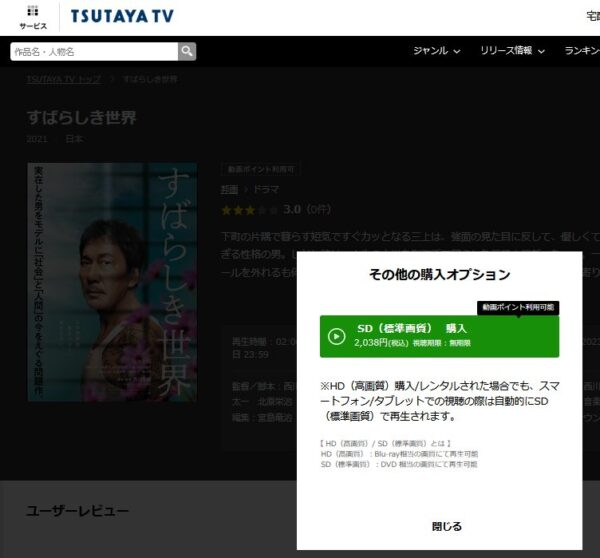 すばらしき世界-TSUTAYA-TV